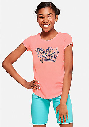 6bb9504a Girls' Graphic Tee Shirts - Trendy, Funny & Cute Styles | Justice
