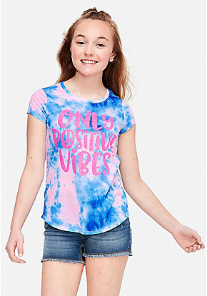 194a20f0f7600c Girls  Graphic Tee Shirts - Trendy