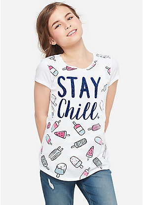 Stay Chill Ice Pop Graphic Tee