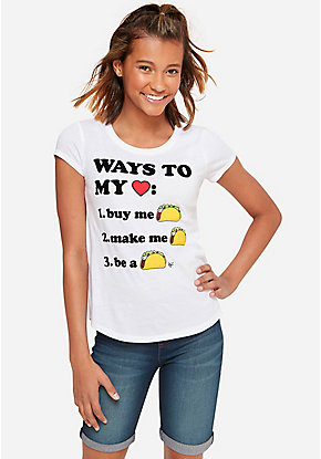 ebbfb118d550 Girls  Graphic Tee Shirts - Trendy