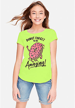 918b65216 Girls' Graphic Tee Shirts - Trendy, Funny & Cute Styles | Justice