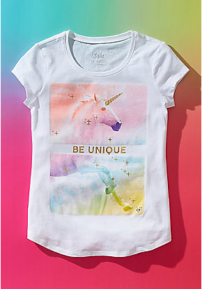 ee5bc9a2 Girls' Graphic Tee Shirts - Trendy, Funny & Cute Styles | Justice