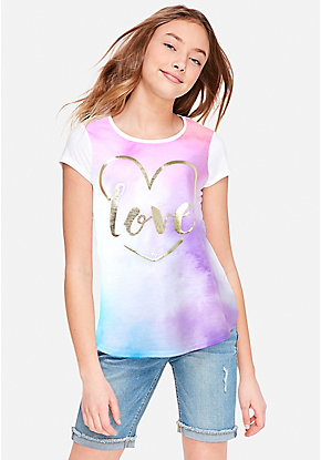 bca13fefed6e Girls' Graphic Tee Shirts - Trendy, Funny & Cute Styles | Justice