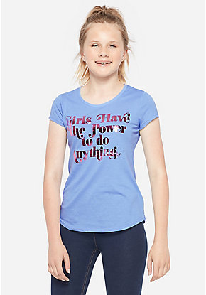 504df60b8 Girls' Graphic Tee Shirts - Trendy, Funny & Cute Styles | Justice