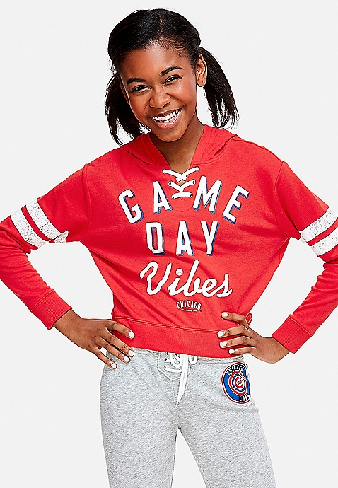 8d5aa737373 ... Chicago Cubs Game Day Vibes Lace Up Hoodie. Previous Next