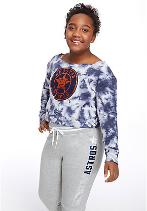 MLB Tie Dye Raw Neck Sweatshirt