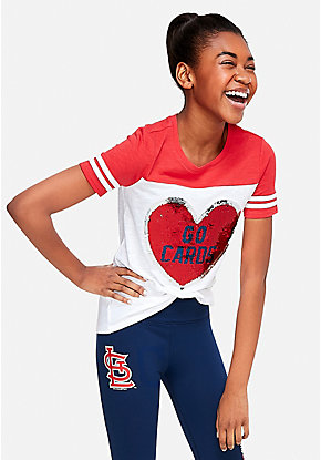 8b3fb5fdc St Louis Cardinals Flip Sequin Football Tee