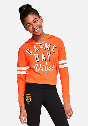 San Francisco Giants Game Day Vibes Lace Up Hoodie