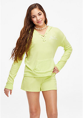 Snuggly Soft Lace Up Hoodie