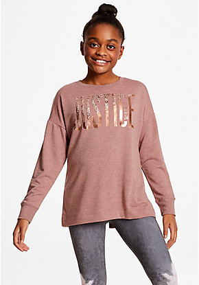 Logo Lace Up Back Sweatshirt