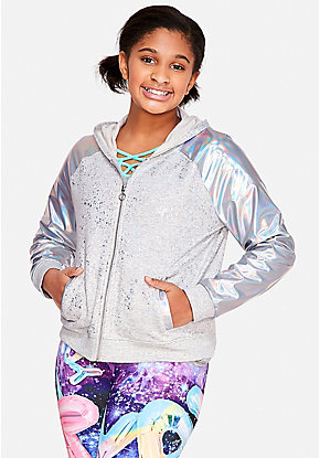 Holo Hooded Bomber Jacket