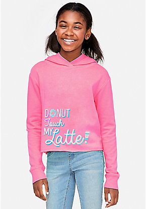 Donut Touch My Latte Acented Hoodie