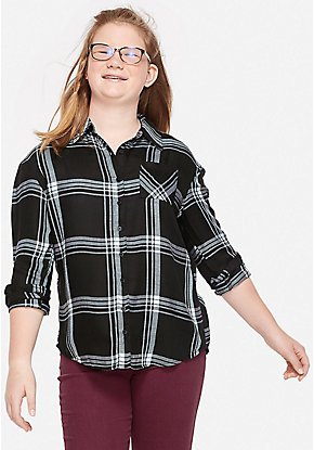 Perfect Plaid Button Up Shirt