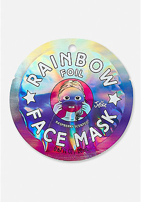 Rainbow Foil Face Mask