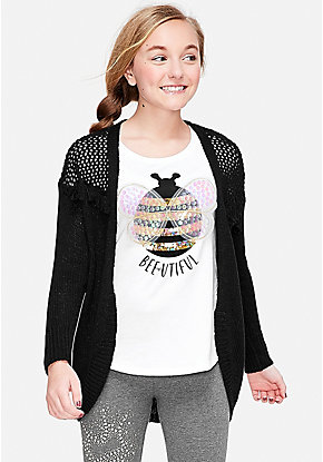 Girls Sweaters Cardigans Pullovers Justice