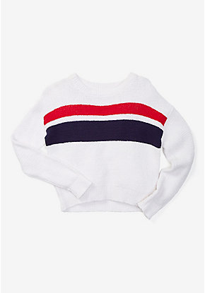 Red, White & Blue Stripe Sweater