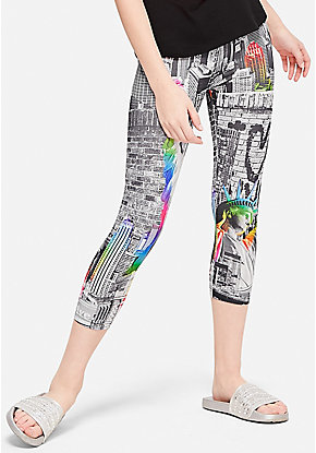 Rainbow City Photoreal Crop Leggings