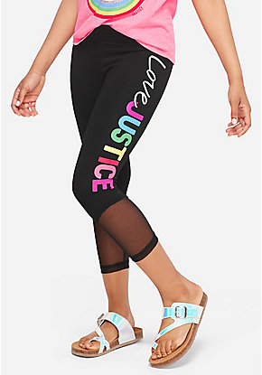Love Justice Mesh Crop Leggings