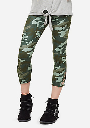 Pattern Ladder Cutout Leggings