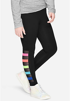 Rainbow Mesh Leggings