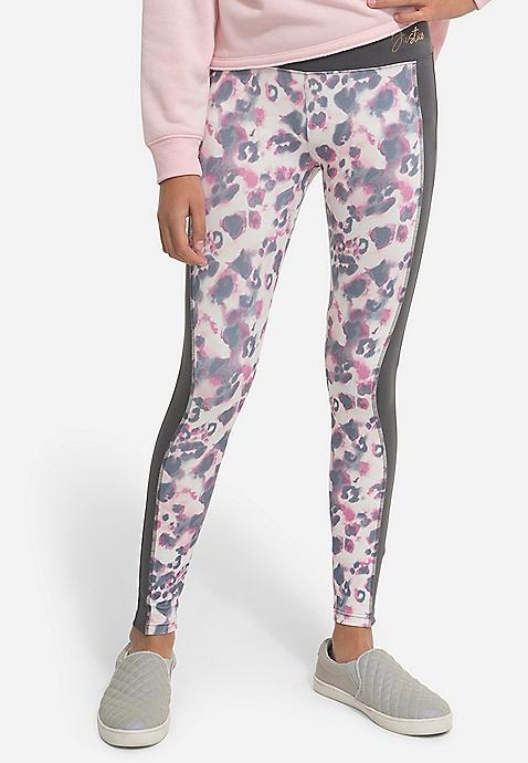 Pattern Color Block Leggings Pattern Lace Up Back Sports Bra Color Block Quarter Zip Girls Windbreaker Lace Up Sleeve Sweatshirt Reversible Girls Puffer Vest by Justice