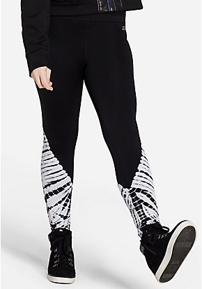 Tie Dye Mesh Ankle Leggings