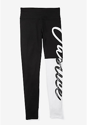 Ombre Logo Color Block Leggings