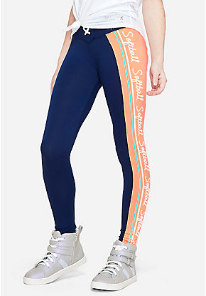 Sport Stripe Lace-Up Leggings