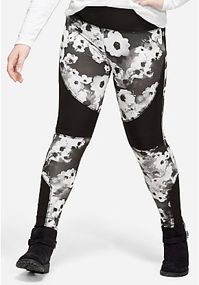 Floral Color Block Leggings