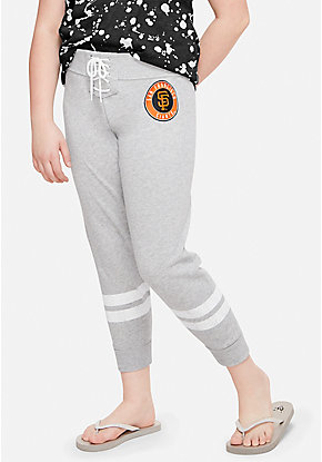 San Francisco Giants Lace Up Crop Joggers