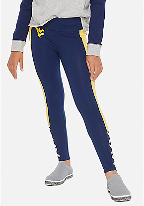 West Virginia University Color block Mesh Leggings