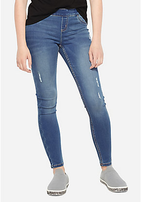 Justice Girls Sequined Super Skinny Fit Jeans
