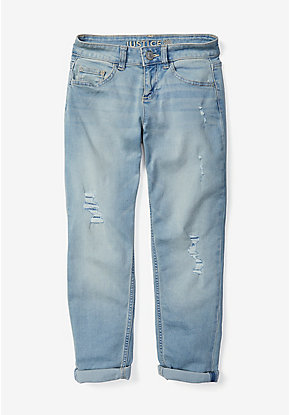 Destructed Girlfriend Jeans