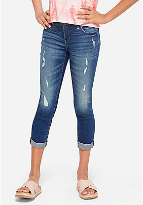 Destructed Crop Jeans