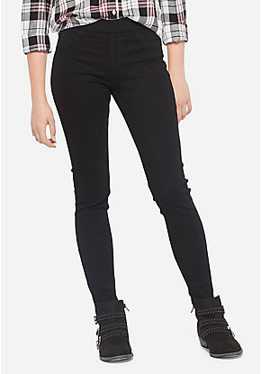 Color Pull On Jean Leggings
