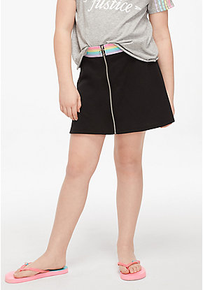 Faux Zip Skirt