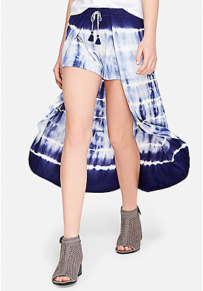 Tie Dye Maxi Skirted Shorts