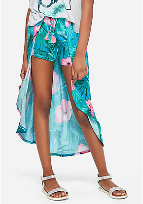 Floral Maxi Skirted Shorts