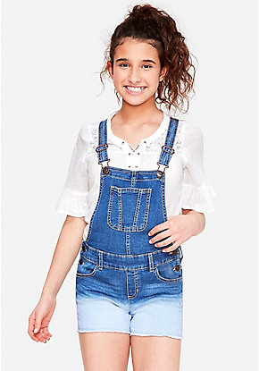 Ombre Denim Shortalls