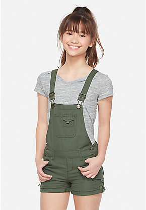 5584ae54160 Tween Girls' Denim & Knit Shorts - Denim Overalls | Justice