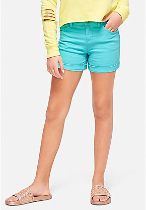 Color Denim Short Shorts