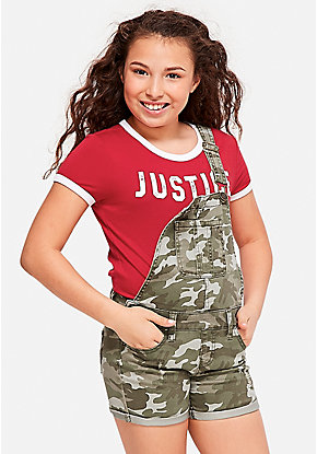 Camo Denim Shortalls