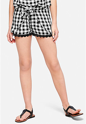 Wrap Tie Waist Soft Shorts