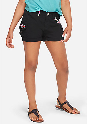 Embroidered Cargo Shorts