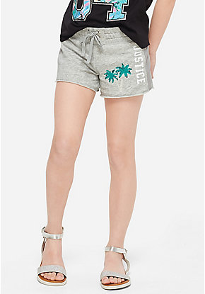 Flip Sequin French Terry Mesh Side Shorts