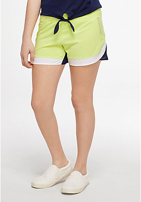 Color Block Running Shorts