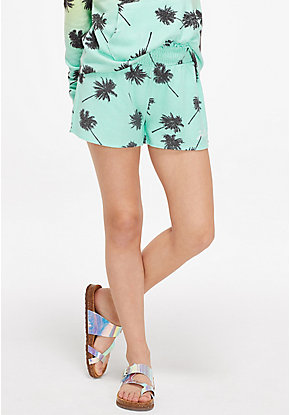 Tropical Snuggly Soft Smocked Shorts