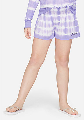 Tie Dye Snuggly Soft Smocked Shorts