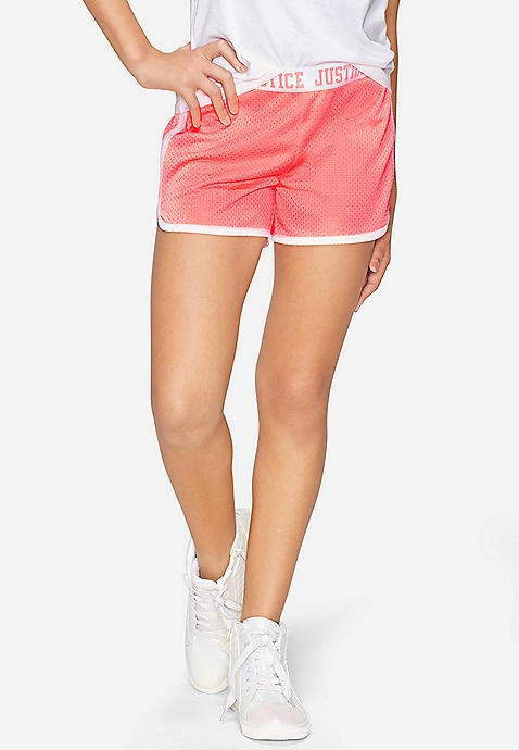 Justice Floral Dolphin Shorts Cloudy Heather