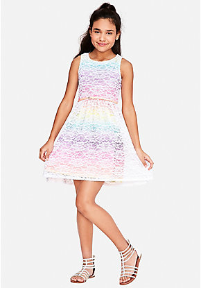 f359a5c3192 Rainbow Lace A-Line Dress